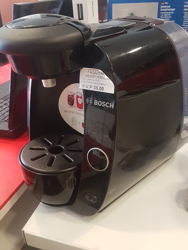 cafetera Bosch de cápsula, tassimo, negro