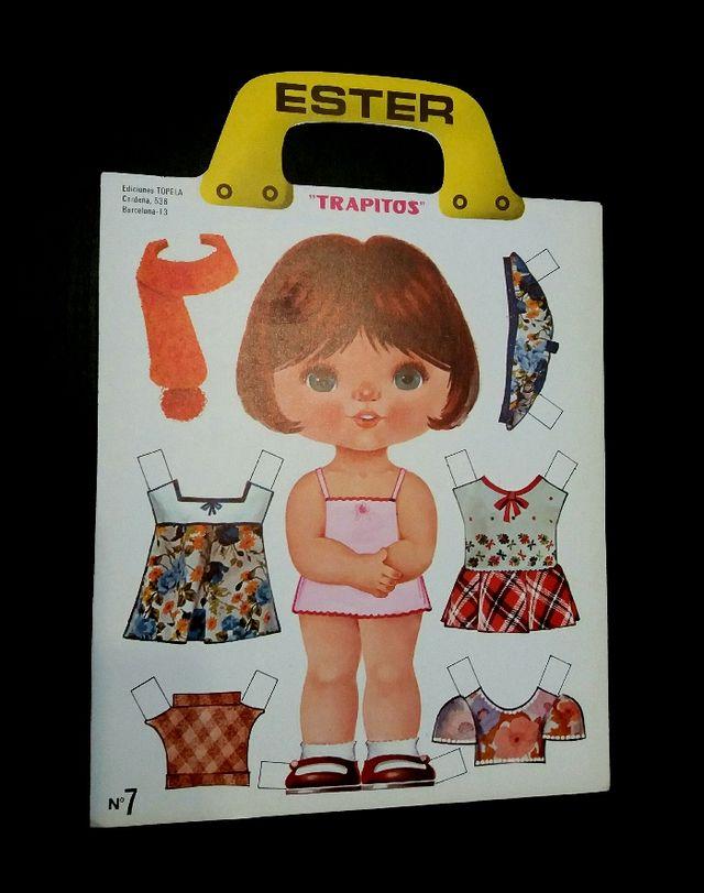 Recortables Trapitos Ester año 1974