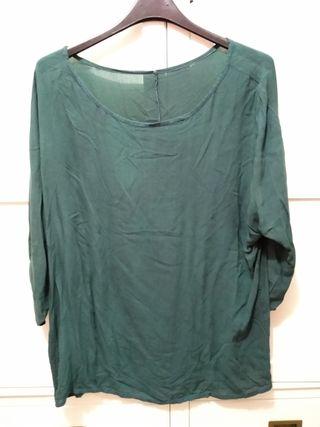 Blusa verde cacería
