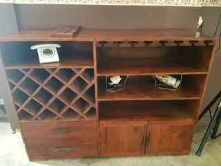 Mueble madera maciza Botellero