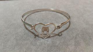 441a6ae988ed Pulsera Lotus style mujer acero rígida con circonitas. pulseras de acero