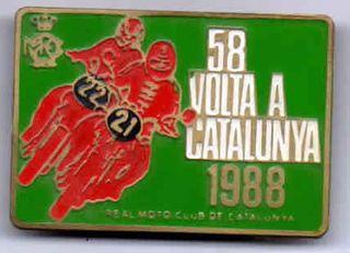 PIN 58 VOLTA A CATALUNYA 1988