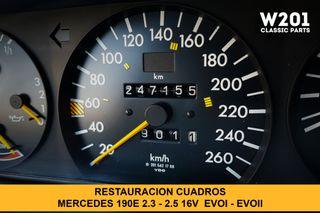 Restauracion cuadros Mercedes w201 190