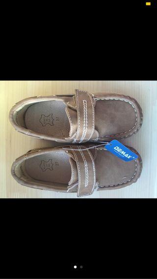 Zapatos mocasin niño nuevos