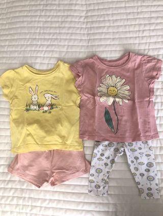Lote ropa bebé verano