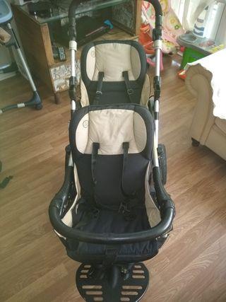 Carrito doble más silla para coche