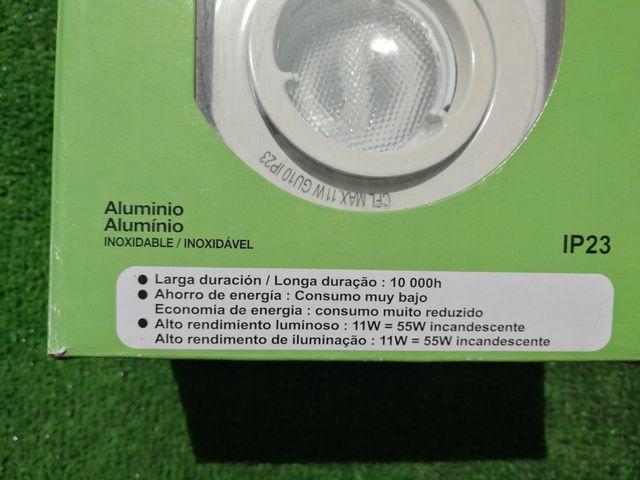 Kit 3 focos económicos aluminio blanco.