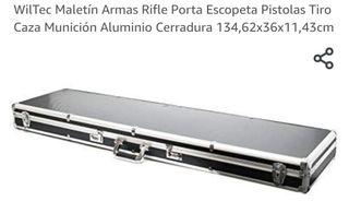 Maletin para rifle de caza.