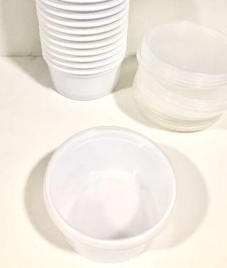 10 Tapers de e Plástico con Tapa Hermético
