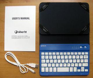 """Funda SilverHT+teclado Bluetooth 3.0 tablets 7"""""""