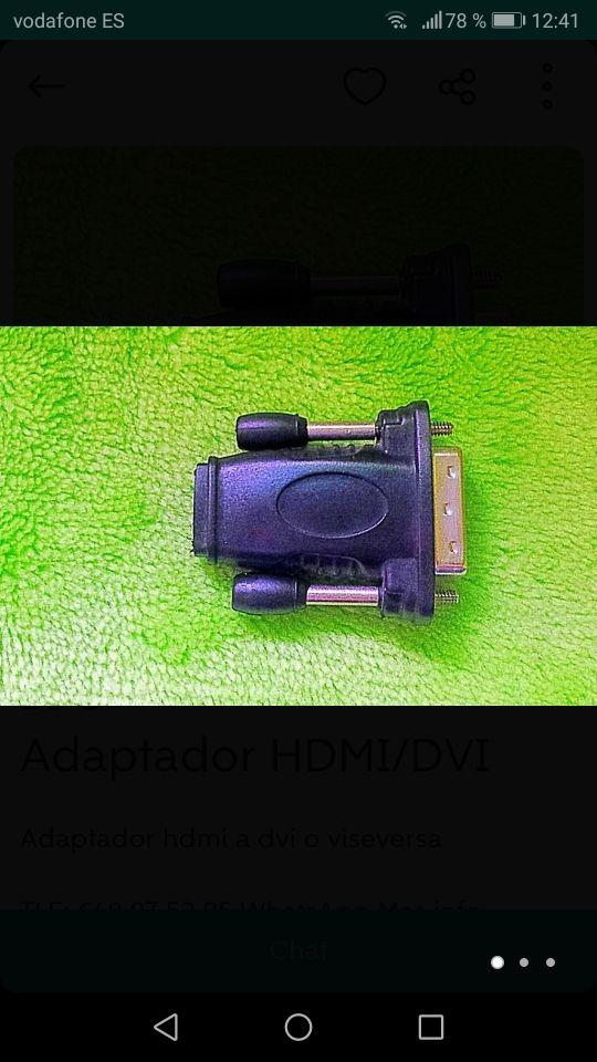 adaptador de dvi a hdmi