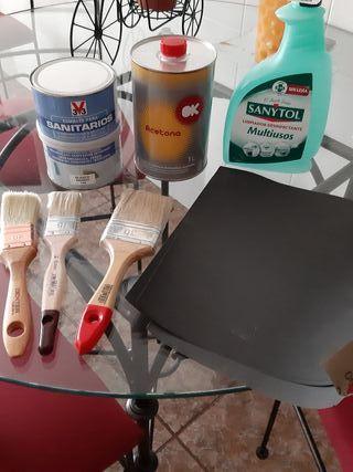 materiales arreglar bañera oxidada