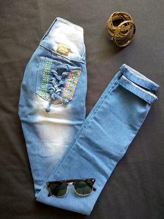 ¡Nuevo!Pantalón Vaquero PushUp Talla XS/34/6