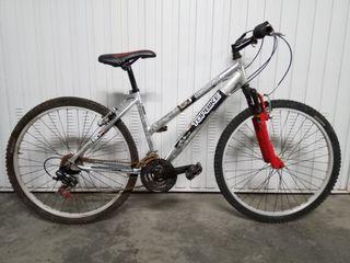 Bici con Amoriguador y Cuadro de Aluminio