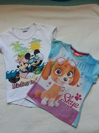 Dos camisetas niña talla 5