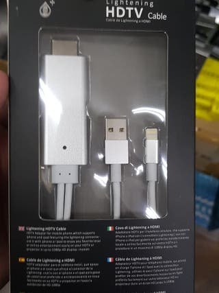 cable iphone a HDMI a TV
