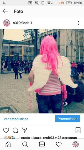 Alas Blancas Disfraz Carnaval Cosplay