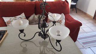Lámpara de forja de 3 luces