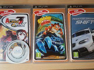 PSP con 4 juegos