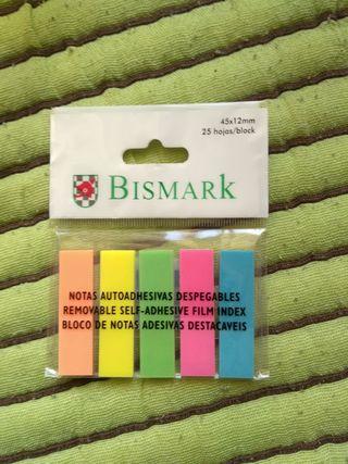 Adhesivos marcapáginas de 5 colores BISMARK