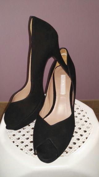 zapatos tacón negro nuevos