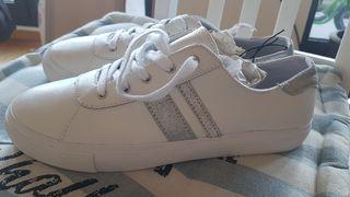 T Mano Segunda Gap De Blancas Cuero Por 41 Zapatillas Mujer Nuevas TJc3Klu15F