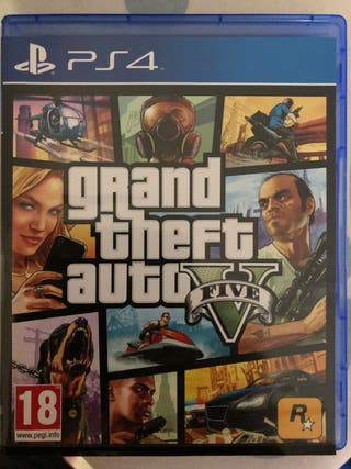 Juego PS4 grand theft auto V five