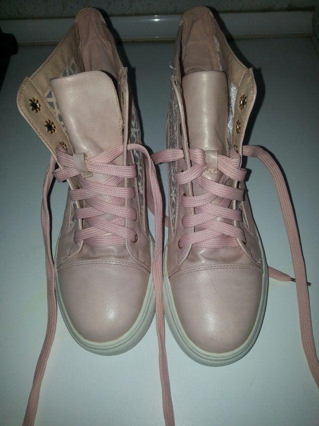 zapatillas mujer rosa pastel