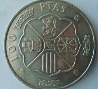 Moneda de 100 pesetas de 1966 (buena conservación)