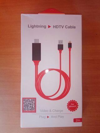 cable adaptador iPhone y iPad.nuevo