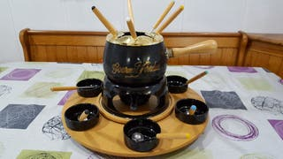 Auténtica fondue con hornillo giratoria
