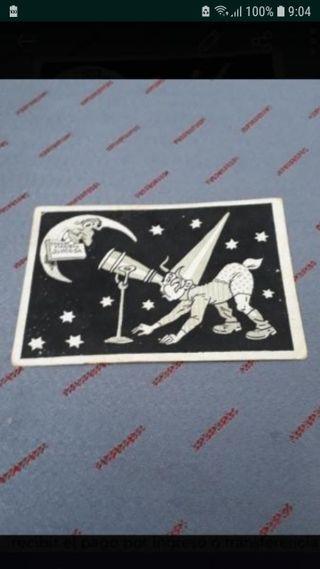 Cromo del Mirón Antiguo Original Simca II