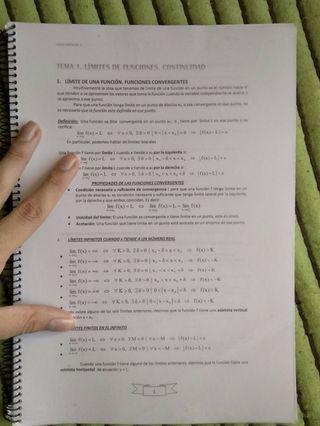 Libro/Apuntes de Matemáticas de 2º de Bachillerato