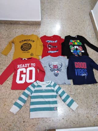 64bfcda70 Camisetas manga larga niño de segunda mano en Badalona en WALLAPOP