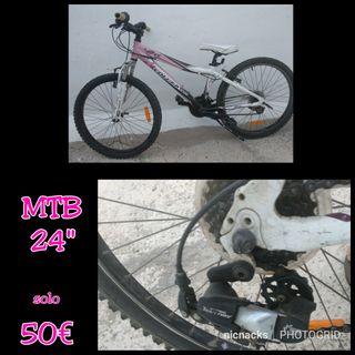 """bicicleta de Nina 24"""" hasta 12anos"""