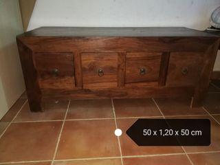 armario de salón o tv madera maciza