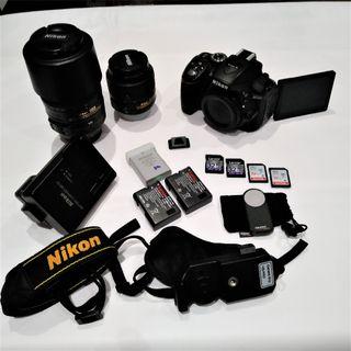 Nikon D5300 + Objetivos AF-S 18-55 + AF-S 55-300