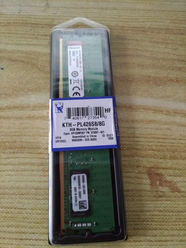 memoria kingston 8 gb ddr4 2666mhz