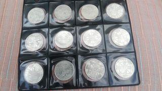 12 monedas de plata, 100 pesetas 1966