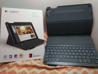 estuche con teclado integrado Logitech iPad air 2