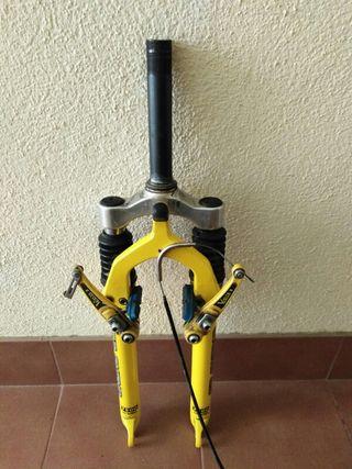 Horquilla suspension bicicleta