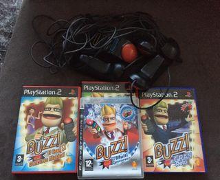 Buzz pulsadores + juegos