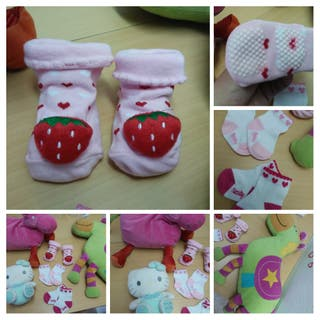 3 pares calcetines niña 0-12 y 0-6 meses nuevos