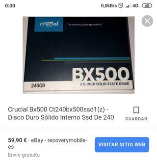 SSD crucial BX500 240gb precintado con factura