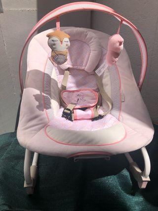 Hamaca con vibración y música de arrullo para bebe