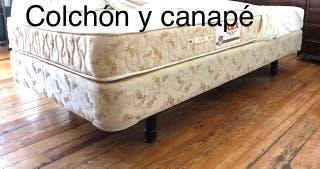 Vendo colchón + canapé