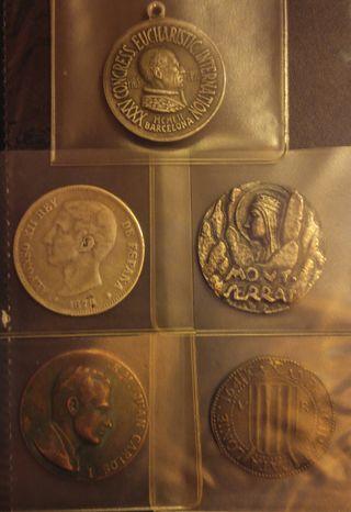 Colección medallas e monedas antiguas España