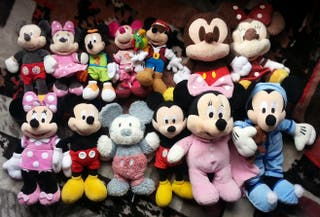 mickey/minnie mouse peluches disney