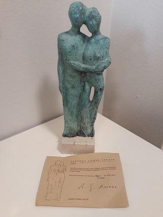 figura bronce certificada