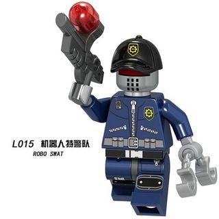 Robot Swat 1 Lego City Figures Compatible